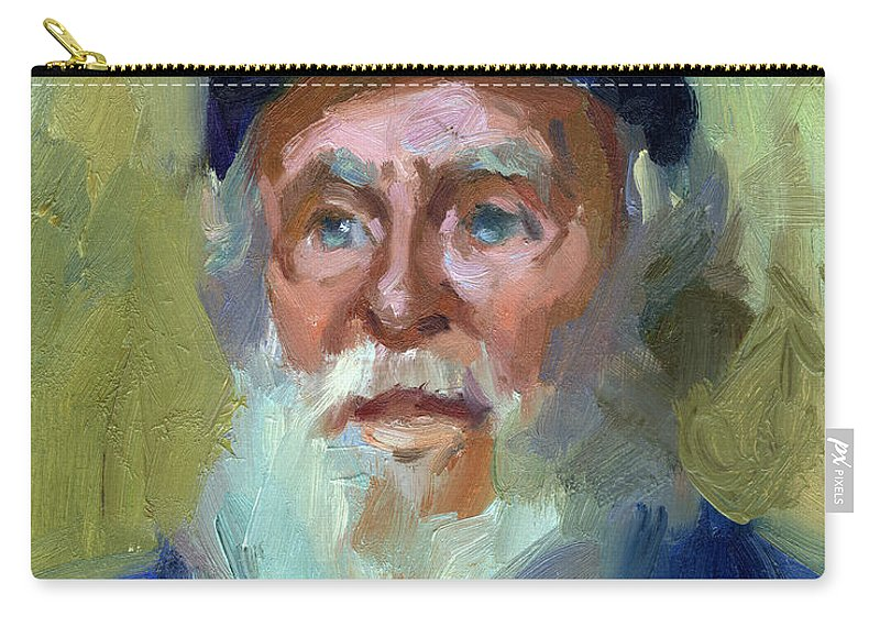 Ship Captain Carry-all Pouch featuring the painting Sea Captain 1 by Diane McClary