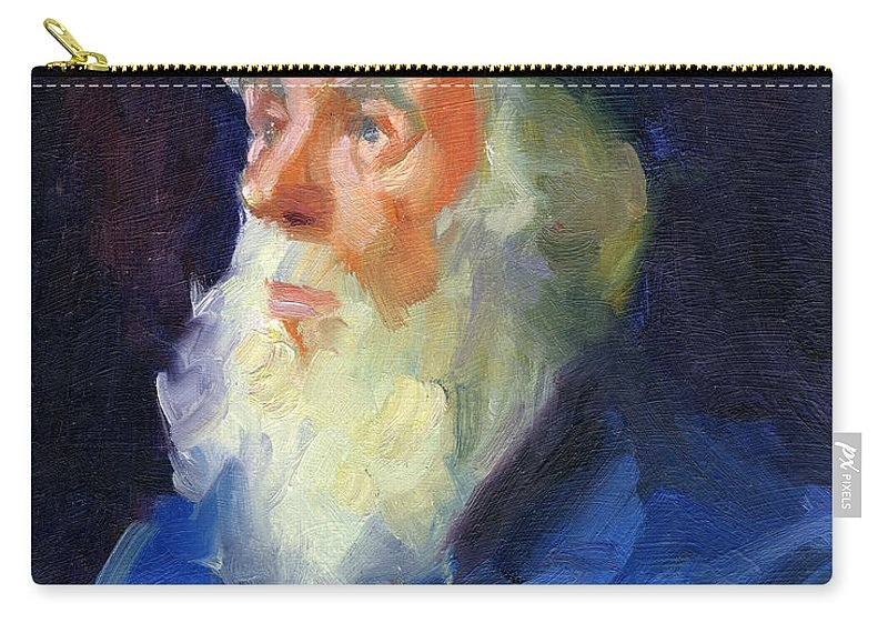 Sea Captain Carry-all Pouch featuring the painting Sea Captain 2 by Diane McClary