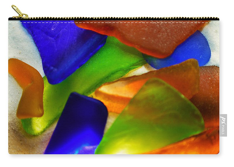 Original Photo Carry-all Pouch featuring the photograph Sea Glass II by Sherry Allen