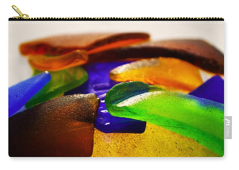 Original Photo Carry-all Pouch featuring the photograph Sea Glass IIi by Sherry Allen