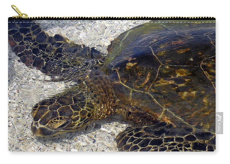 Turtle Carry-all Pouch featuring the photograph Sea Life by Athala Bruckner