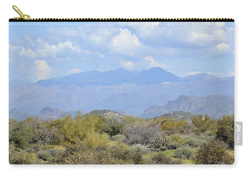 Desert Carry-all Pouch featuring the photograph Sea Of Beauty by Lynda Lehmann