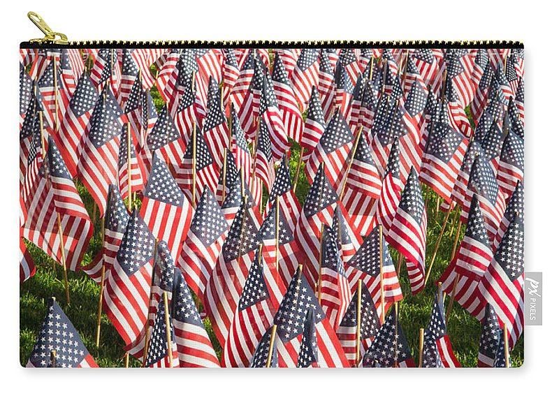 America Carry-all Pouch featuring the photograph Sea Of Flags by Inge Johnsson
