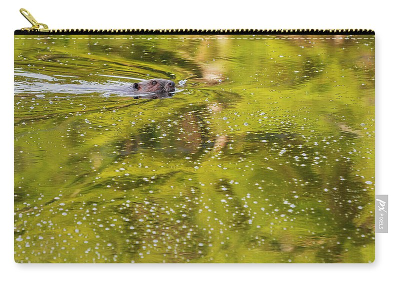 Green Carry-all Pouch featuring the photograph Sea Of Green Square by Bill Wakeley
