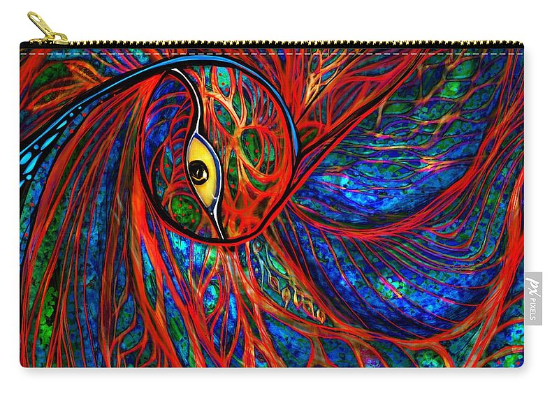 Peacock Carry-all Pouch featuring the digital art Sea Of Peacock by Mary Eichert