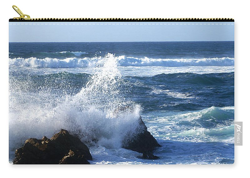 Barbara Snyder Carry-all Pouch featuring the digital art Sea Spray by Barbara Snyder