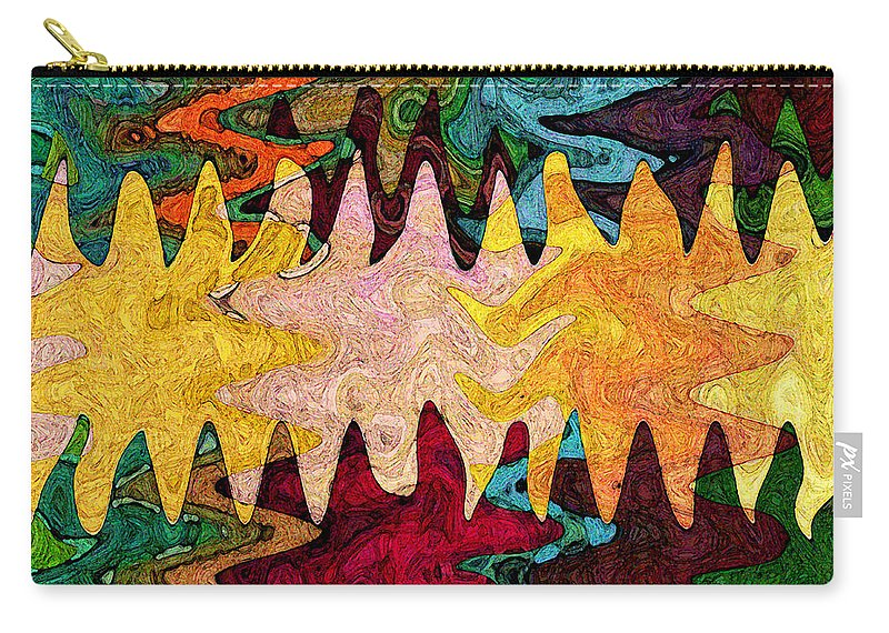 Sea Star Carry-all Pouch featuring the digital art Sea Star Parade by Gary Olsen-Hasek