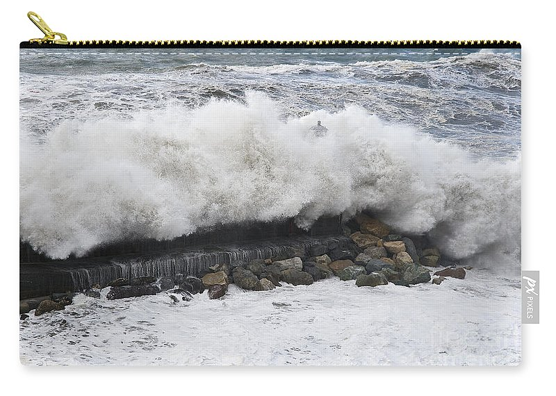 Agitated Carry-all Pouch featuring the photograph Sea Storm by Antonio Scarpi