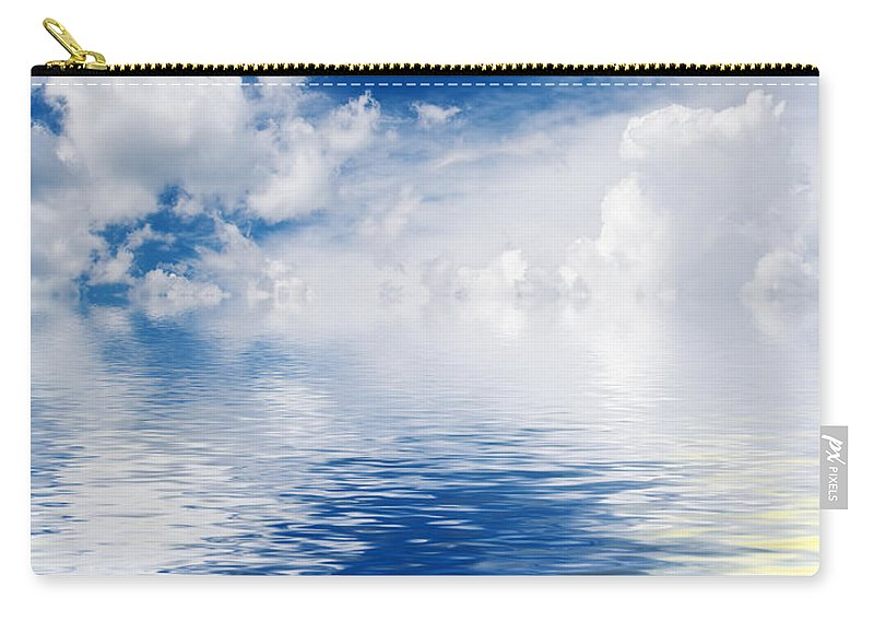 Abstract Carry-all Pouch featuring the photograph Sea Sun And Clouds by Antonio Scarpi