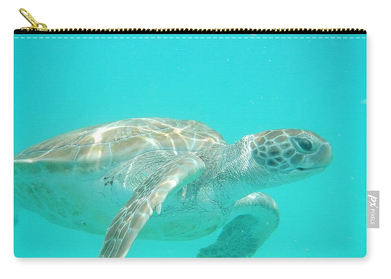 Sea Turtles Carry-all Pouch featuring the photograph Sea Turtle Time by Catie Canetti