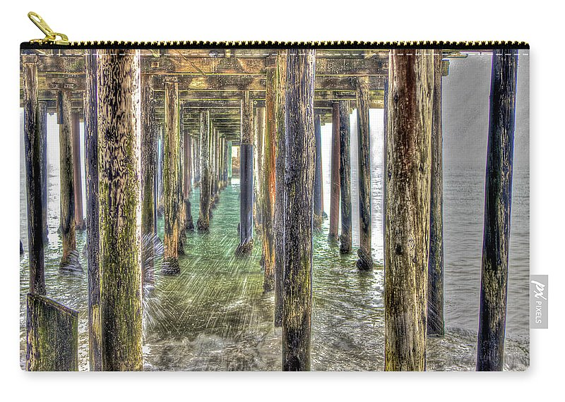 Seacliff Carry-all Pouch featuring the photograph Seacliff Pier 2 by SC Heffner