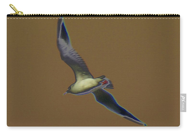 Bird Carry-all Pouch featuring the digital art Seagull by Carol Lynch