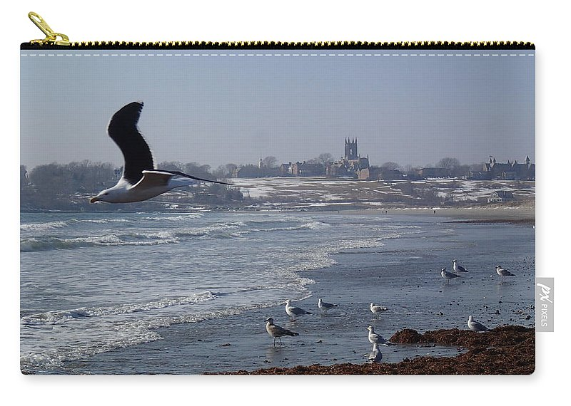 Seagull Carry-all Pouch featuring the photograph Seagull by Robert Nickologianis