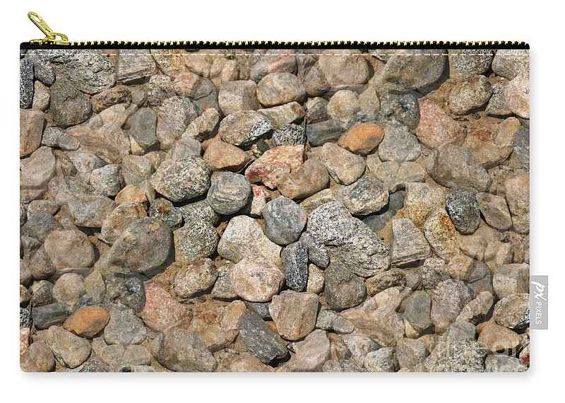 Seamless Carry-all Pouch featuring the photograph Seamless Background Gravel Stones by Henrik Lehnerer