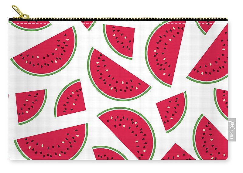 Art Carry-all Pouch featuring the digital art Seamless Colorful Pattern With Red by Ekaterina Bedoeva