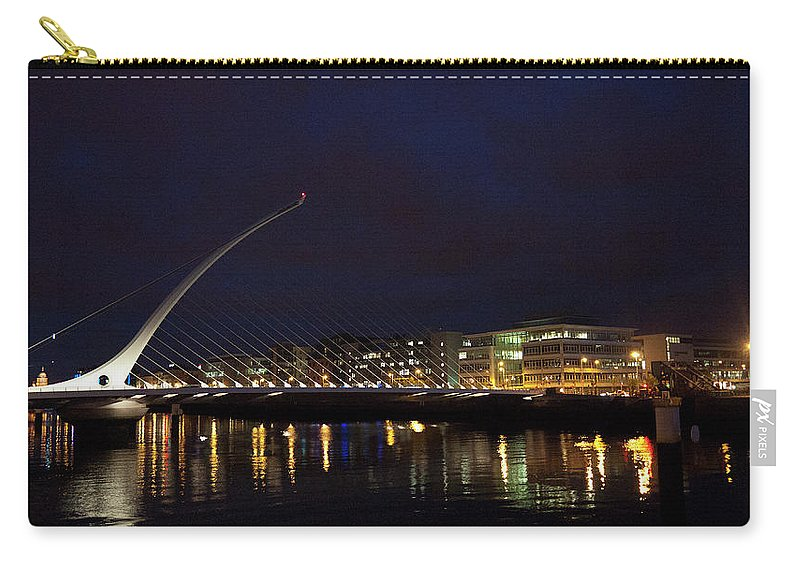 Dublin Carry-all Pouch featuring the photograph Sean Ocasey Bridge, Dublin by Leverstock
