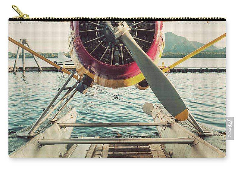 Propeller Carry-all Pouch featuring the photograph Seaplane Dock by Shaunl