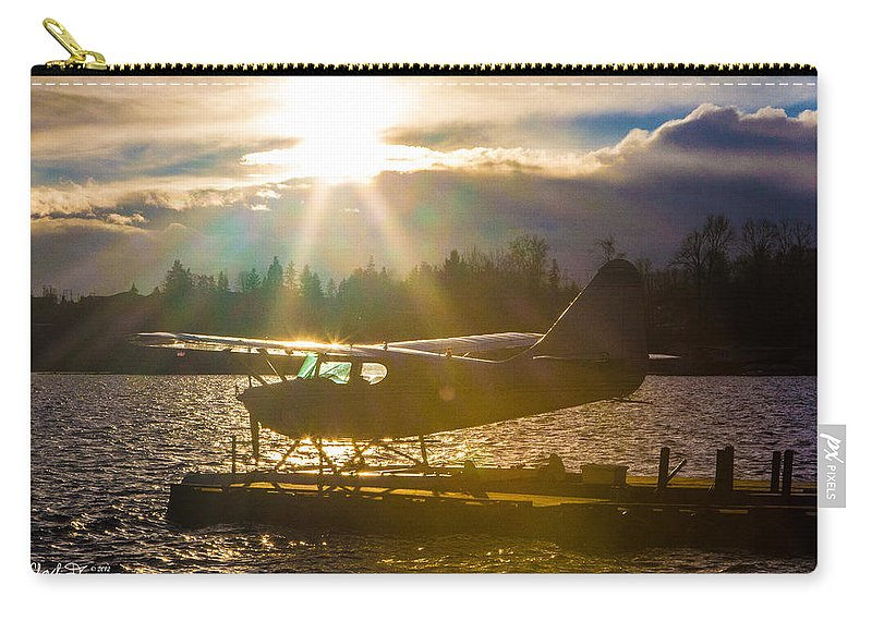 Seaplane Carry-all Pouch featuring the photograph Seaplane Sunset by Charlie Duncan