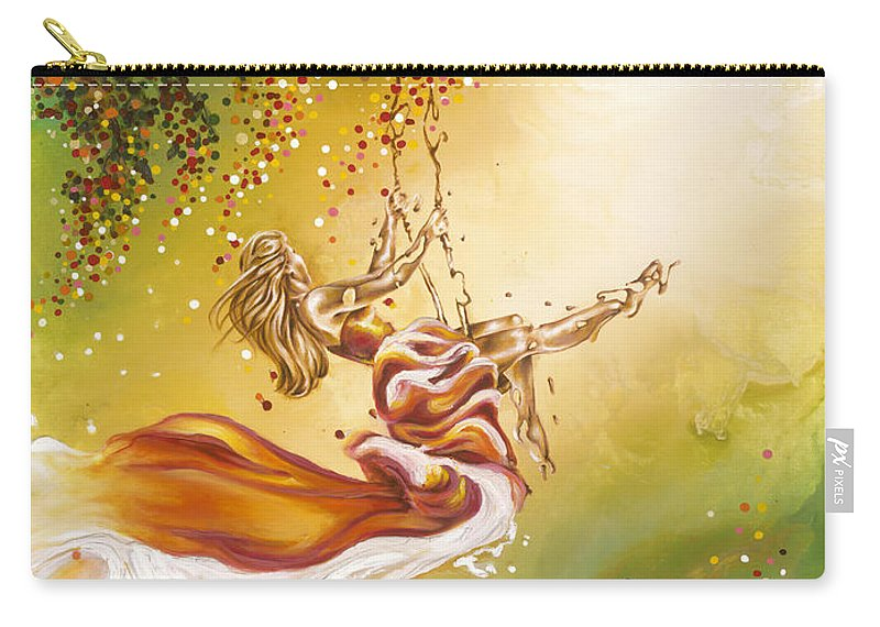 Karina Llergo Carry-all Pouch featuring the painting Search For The Sun by Karina Llergo
