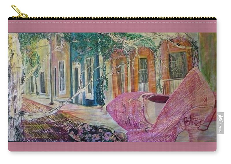 Shoes Carry-all Pouch featuring the painting Searching by Peggy Blood