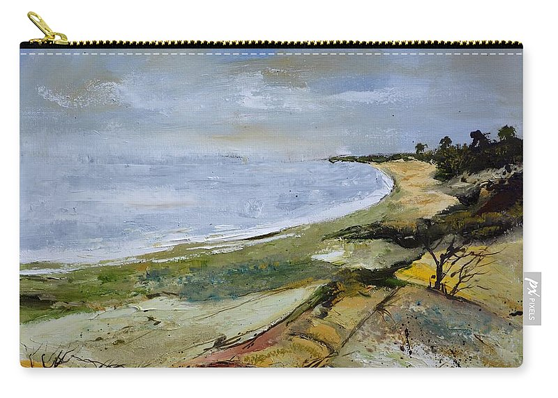 Seascape Carry-all Pouch featuring the painting Seascape 451101 by Pol Ledent
