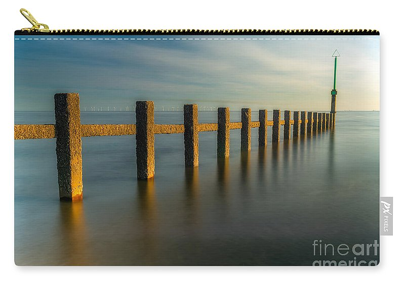 Groynes Carry-all Pouch featuring the photograph Seascape Wales by Adrian Evans