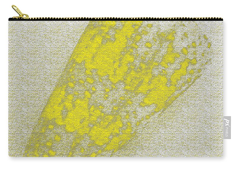 Yellow Carry-all Pouch featuring the digital art Seashell by Carol Lynch