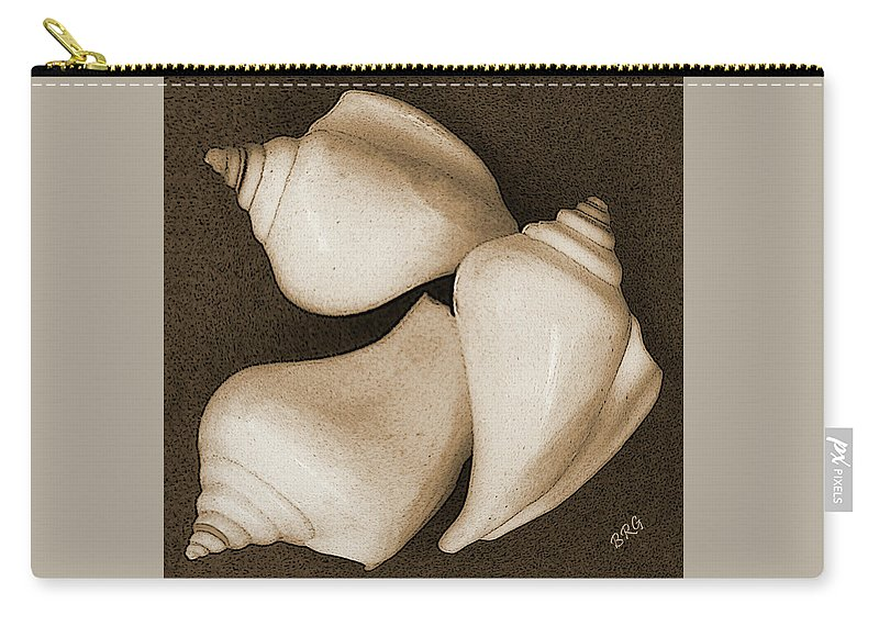 Seashell Carry-all Pouch featuring the photograph Seashells Spectacular No 4 by Ben and Raisa Gertsberg