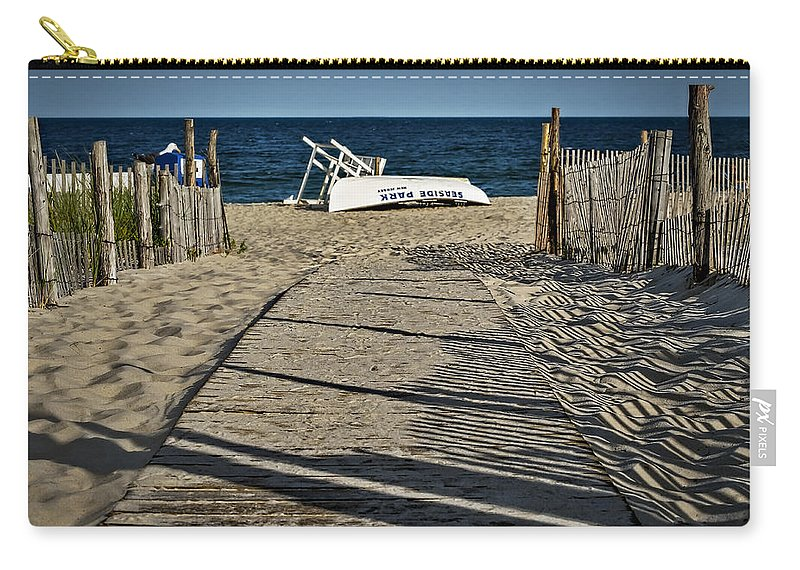 Jersey Shore Carry-all Pouch featuring the photograph Seaside Park New Jersey Shore by Susan Candelario
