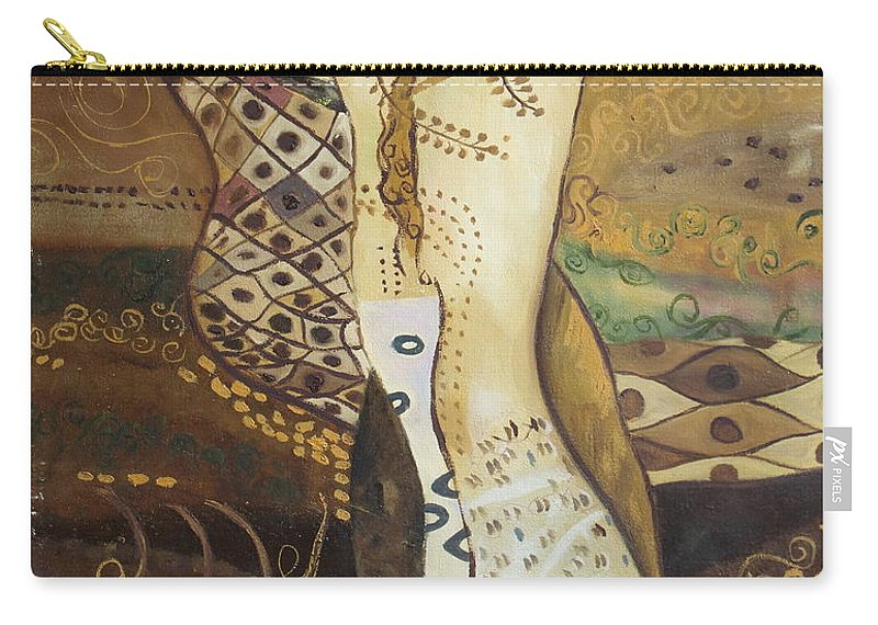 Klimt Carry-all Pouch featuring the painting Seasnakes And Squiggles by Stefan Duncan