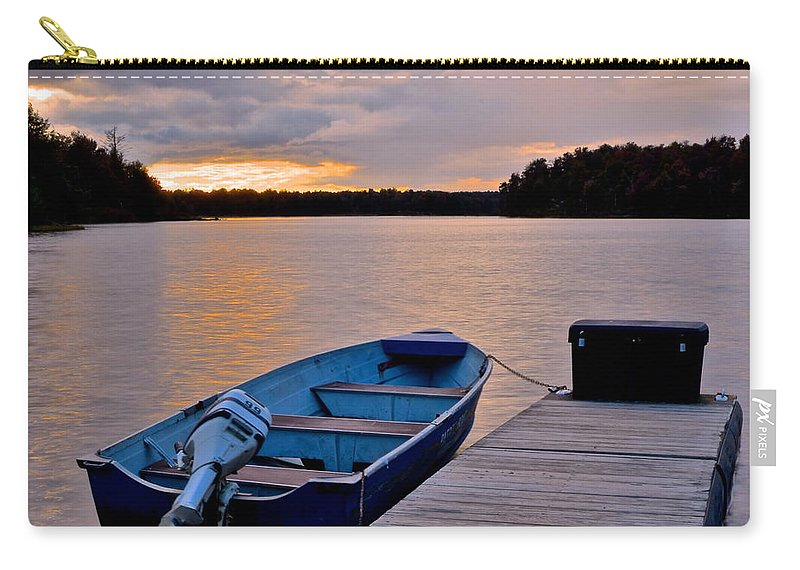 Fishing Carry-all Pouch featuring the photograph Seasons End by Frozen in Time Fine Art Photography
