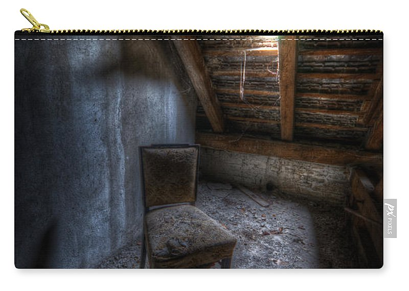 Soviet Carry-all Pouch featuring the digital art Seat In Darkenss by Nathan Wright