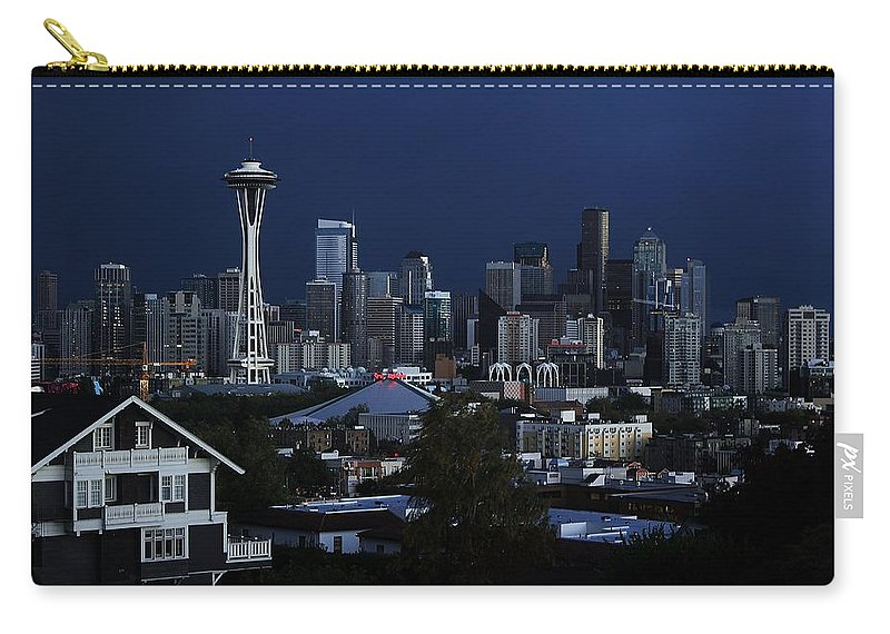 Seattle Carry-all Pouch featuring the photograph Seattle Blues by Benjamin Yeager