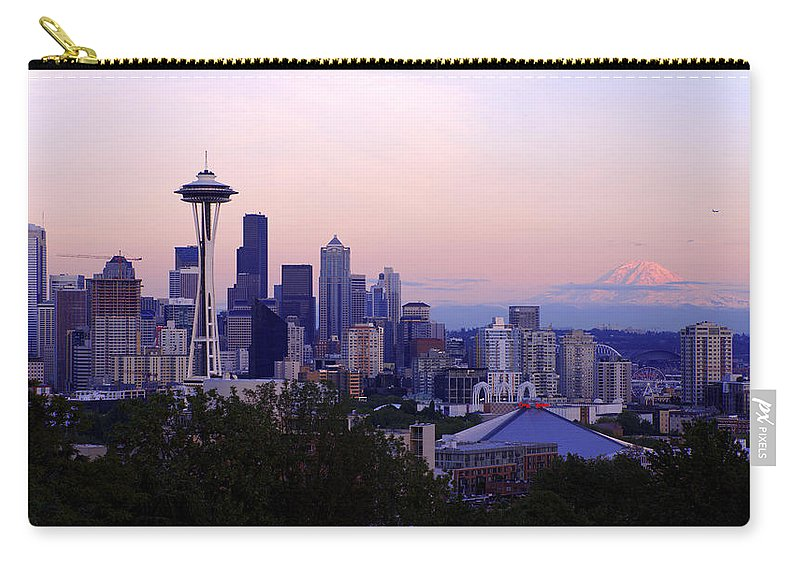 Seattle Carry-all Pouch featuring the photograph Seattle Dawning by Chad Dutson