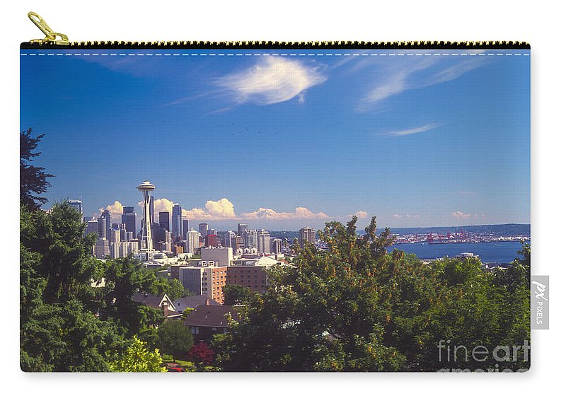 Seattle Carry-all Pouch featuring the photograph Seattle From Queen Anne Hill by Bob Phillips