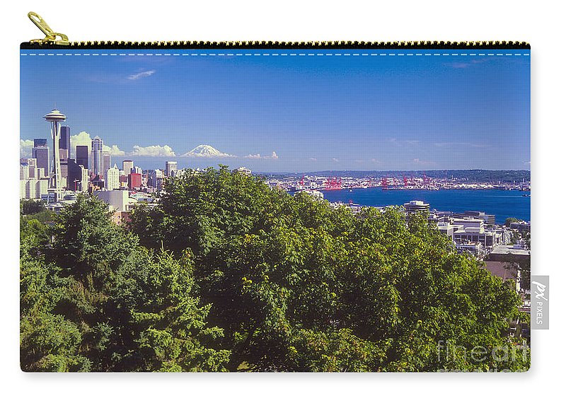 Seattle Carry-all Pouch featuring the photograph Seattle On Puget Sound by Bob Phillips
