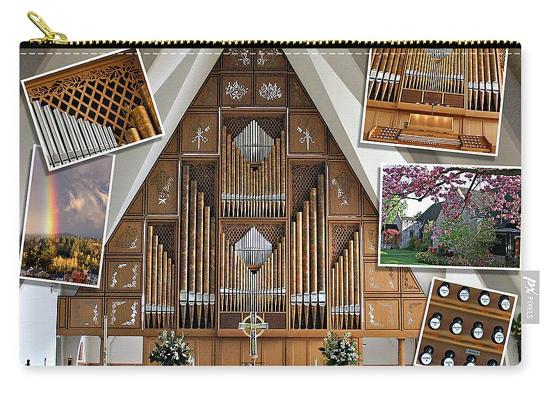 Music Carry-all Pouch featuring the photograph Seattle Organ by Jenny Setchell