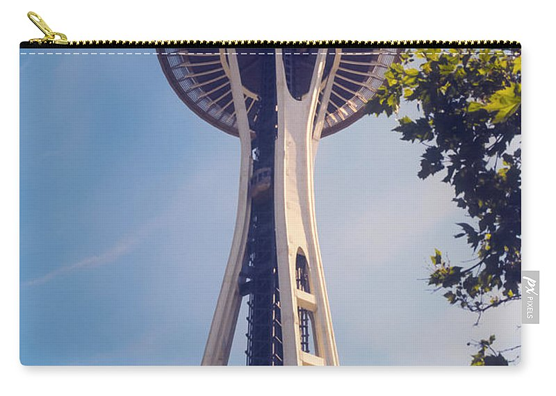 Seattle Carry-all Pouch featuring the photograph Seattle Space Needle by Bob Phillips