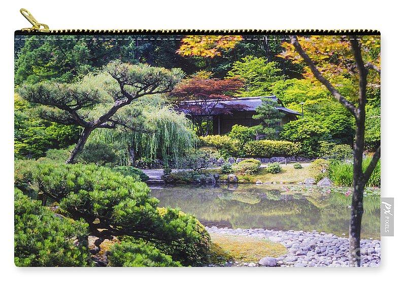 Japanese Tea Garden Carry-all Pouch featuring the photograph Seattle Tea Garden by Bob Phillips