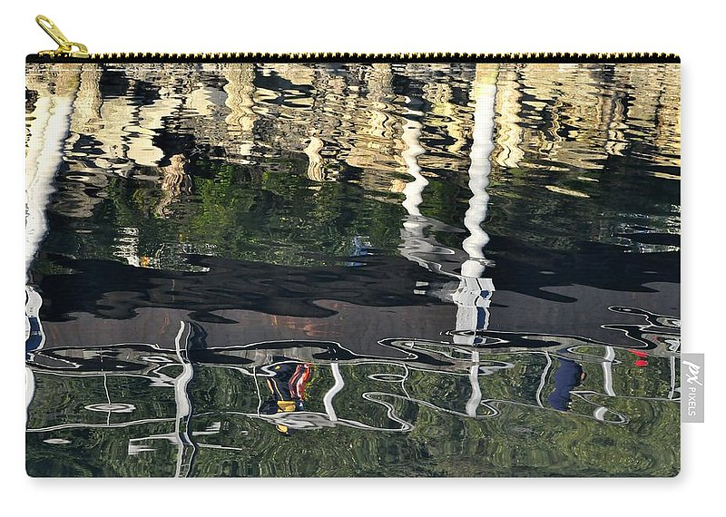 Seawalk Carry-all Pouch featuring the photograph Seawalk Reflected by Cathy Mahnke
