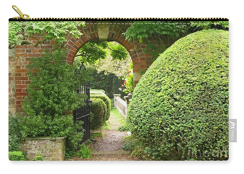 Garden Carry-all Pouch featuring the photograph Secret English Garden by Ann Horn