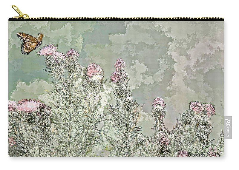 Butter Fly Carry-all Pouch featuring the photograph Secret Garden by Bonnie Willis