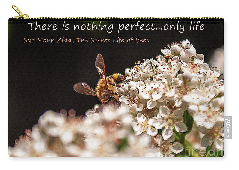 Flower Carry-all Pouch featuring the photograph Secret Life Of Bees by Janice Pariza