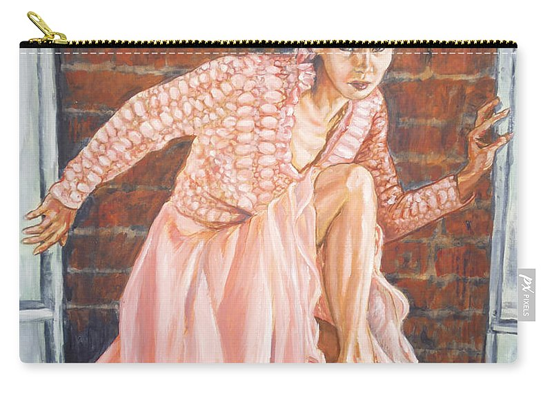 Blonde Carry-all Pouch featuring the painting Secret Passage by Bryan Bustard