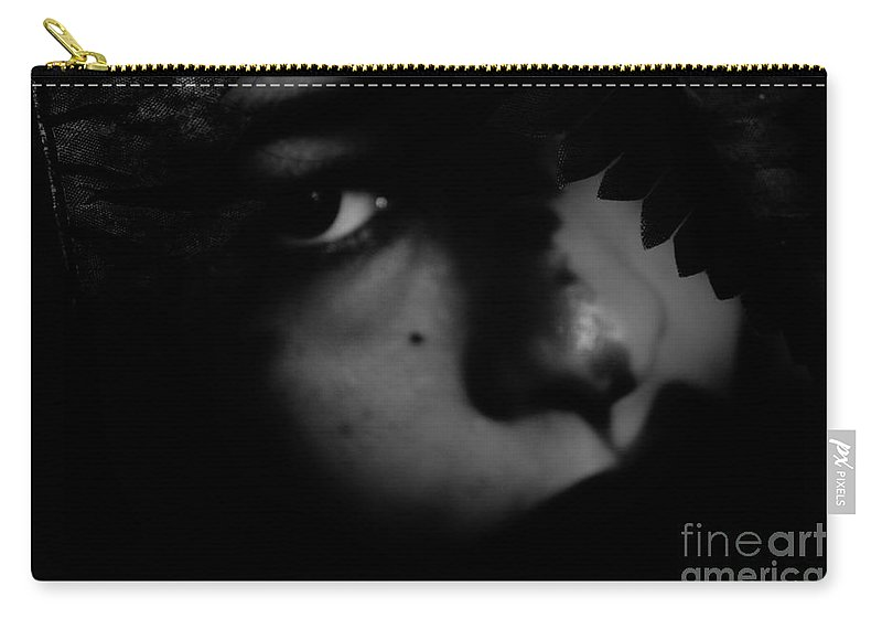 Black Carry-all Pouch featuring the photograph Secrets Dont Betray Me by Jessica Shelton