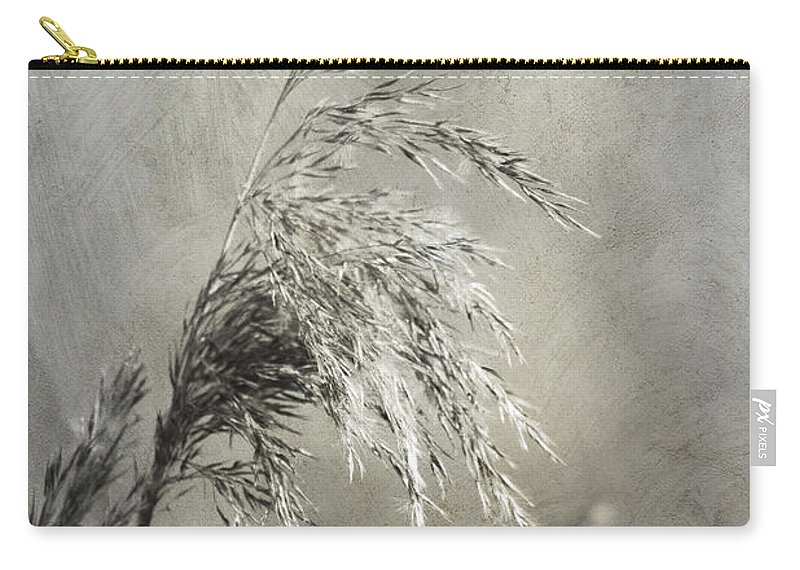Floral Carry-all Pouch featuring the photograph Seeded Grass by Brian Roscorla