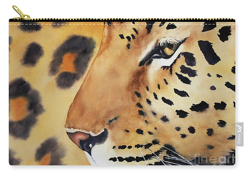 Painting Carry-all Pouch featuring the painting Seeing Spots by Glenyse Henschel