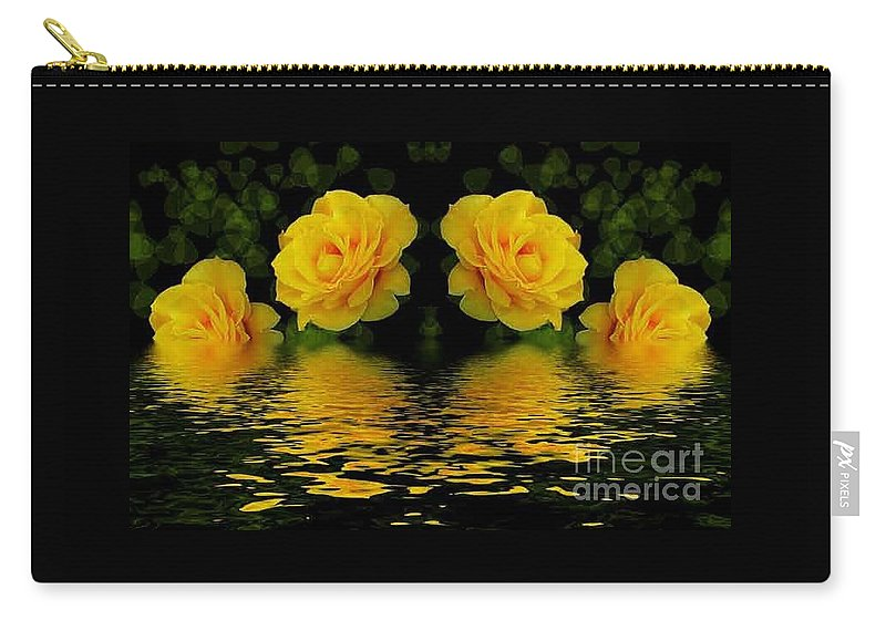 Flowers Carry-all Pouch featuring the photograph Seeing Yellow 2 by Ben Yassa