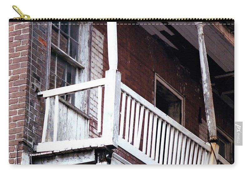 Architecture Carry-all Pouch featuring the photograph Seen Better Days by Glenn Aker