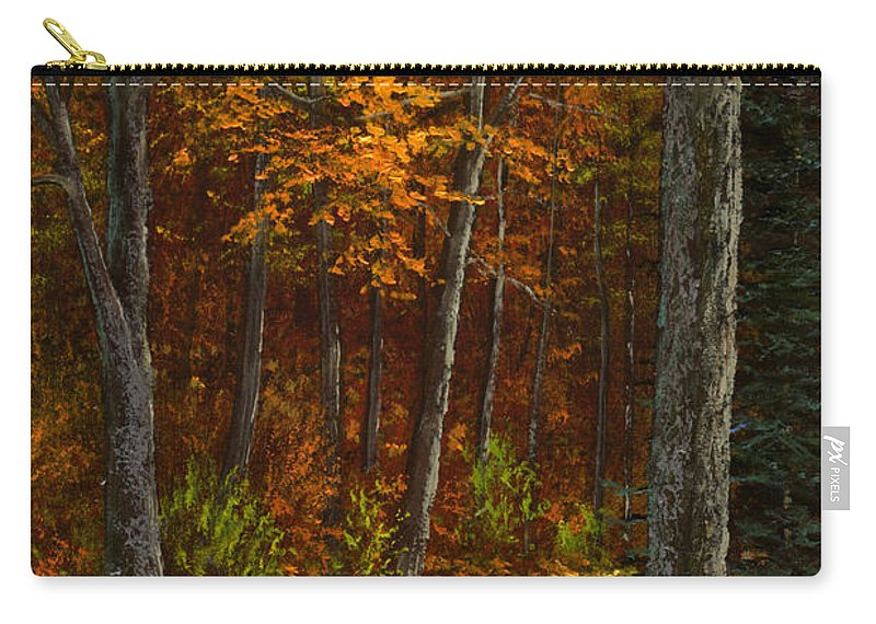 Landscape Carry-all Pouch featuring the painting Seldom Used by Frank Wilson